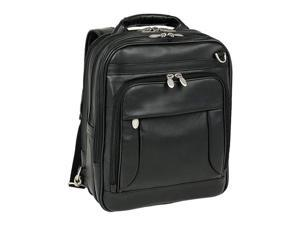 Mcklein Lincoln Park Leather Three-Way Computer Briefcase