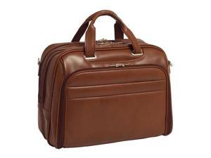 "Mcklein Springfield Leather Checkpoint-Friendly 17"" Laptop Case"