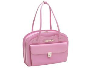McKlein Lyndon Leather Ladies Briefcase (Pink)