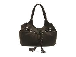 Piel Leather Braided Hobo (Chocolate)