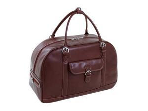 Siamod Stalla Leather Duffel Bag (Cherry Red)