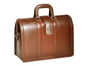 "McKlein Morgan Leather 17"" Litigator Laptop Brief (Brown)"