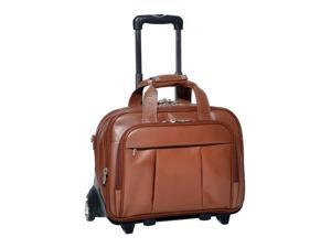 "McKlein Damen Leather 17"" Detachable-Wheeled Catalog Case (Brown)"