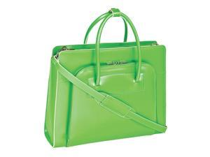 McKlein Lake Forest Leather Ladies' Briefcase w/ Removable Sleeve (Green)