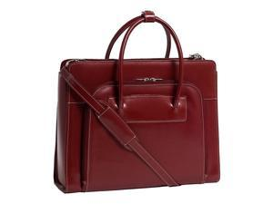 McKlein Lake Forest Leather Ladies' Briefcase w/ Removable Sleeve (Red)