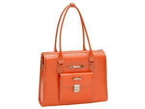 McKlein River Forest Leather Ladies Briefcase (Orange)