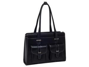 McKlein Alexis Leather Ladies Briefcase (Black)