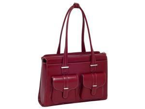 McKlein Alexis Leather Ladies Briefcase (Red)