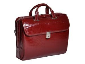 Siamod Settembre Leather Medium Ladies' Laptop Brief (Cherry Red)
