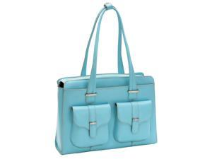McKlein Alexis Leather Ladies Briefcase (Aqua Blue)