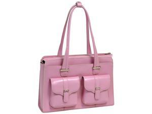 McKlein Alexis Leather Ladies Briefcase (Pink)