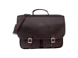 Piel Leather Executive Two Pocket Portfolio (Chocolate)