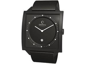 Obaku Harmony Square Case Watch with a Quartz Movement V116UBBRB