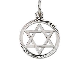 14K Yellow Gold Star Of David Pendant   0.8 - OEM
