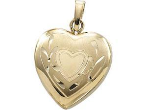 14K Yellow Gold Heart Locket - OEM