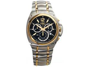ESQ by Movado Men's  Bracer Chronograph Two-Tone Black Round Dial Watch - OEM