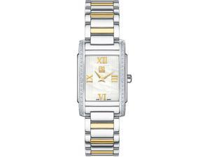 ESQ Women's Kingston Two-Tone Bracelet White Mother of Pearl Dial Watch - OEM