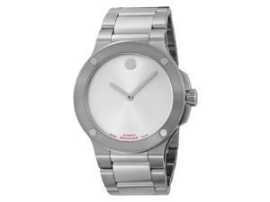 Movado Men's  SE Extreme Stainless Steel Bracelet Silver Dial Watch - OEM