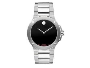 Movado Men's SE Extreme Stainless Steel Bracelet Black Dial Watch - OEM