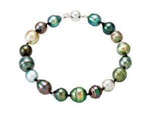 Tahitian Cultured Pearl Necklace & Bracelet Set