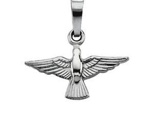 CleverSilver's 14K Yellow Gold Holy Spirit Pendant