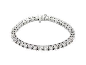 CleverSilver's 18K White Gold Diamond Tennis Bracelet 10 Ct Tw/7 1/4-