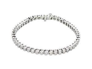 CleverSilver's 14K White Gold Diamond Tennis Bracelet 6 Ct Tw/7 1/4 Inch-