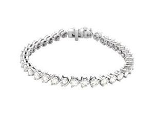 CleverSilver's 18K White Gold Diamond Tennis Bracelet 12 Ct Tw/07.25 Inch-