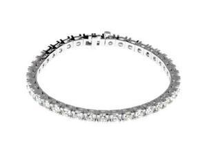 CleverSilver's 18K White Gold Diamond Tennis Bracelet 09.00 Ct Tw/ 7 1/4 Inch-