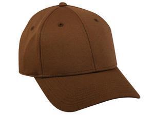 Plain Flex Fitted Baseball Cap- Brown