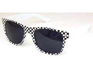 Checkered Wayfarer Sunglasses White