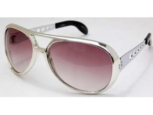 Elvis Pressley Burning Love Sunglasses Silver