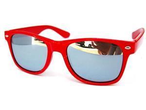 Mirrored Wayfarer Sunglasses Red
