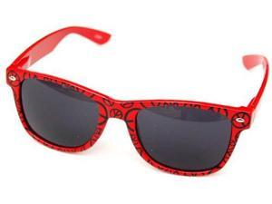 Wayfarer Inspired Peace Signs Red