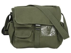 Urban Explorer Black Canvas Shoulder Bag Olive