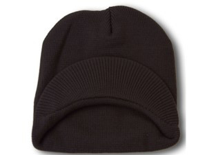 TopHeadwear Cuffless Jeep Visor Winter Beanie - Navy