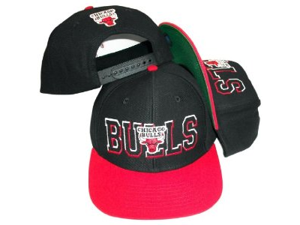 Chicago Bulls Superblock Black/Red Snapback Cap