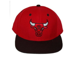 Chicago Bulls Logo NBA Snapback Hat Cap - 2 Tone Red Black