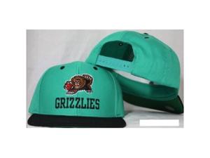 Vancouver Grizzlies Snapback Teal / Black Two Tone Plastic Snap Back Hat / Cap