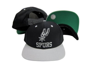 San Antonio Spurs Word Black / Grey Two Tone Plastic Snapback Adjustable Cap