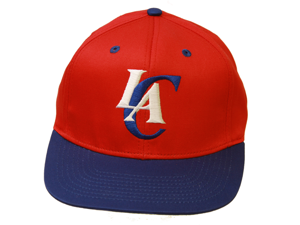 Los Angeles Clippers Snapback Adjustable Hat, Red/Blue + GT Sweat Wristband