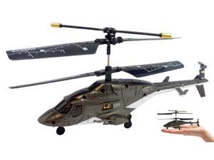 3ch Syma S018 Mini Airwolf RC Helicopter - black