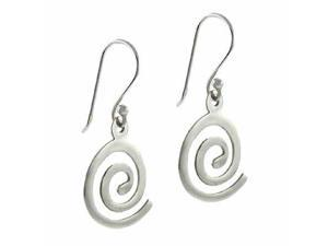Sterling Silver Swirl Hypnosis Dangle Earrings