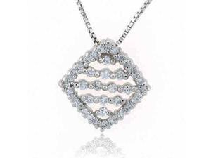 Sterling Silver Simulated Diamond CZ Pendant