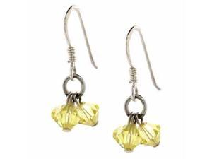 Canary Yellow Genuine Swarovski Crystal Chandelier Earrings