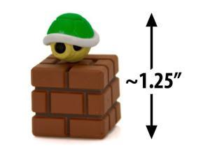 "Green Koopa Shell on a Brick Block ~1.25"" Mini Figure [Super Mario Choco Egg Min"