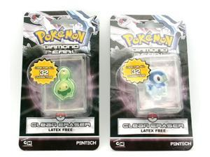 Pokemon Diamond & Pearl Clear Eraser 2 PK - Budew and Piplup