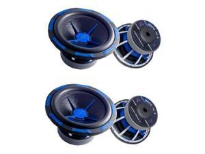 "Pair POWER ACOUSTIK MOFO-122X 12"" 5400 Car Subwoofers"
