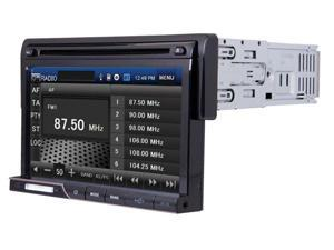 POWER ACOUSTIK PD-710 Single DIN Multimeadia Source with Detachable 7-Inch Oversize LCD Touchscreen