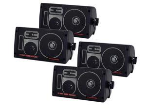 2 Pair of NEW PYRAMID 600W 3-Way Car Audio Box Speakers Stereo